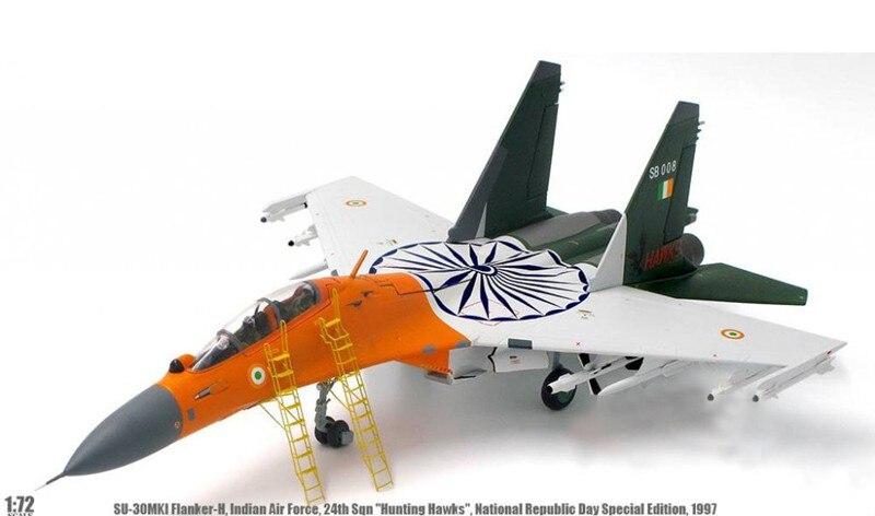 Rara oferta especial 1 72 multa Su-30MKI lutador indiano da força aérea dia nacional pintura liga produtos acabados coleção