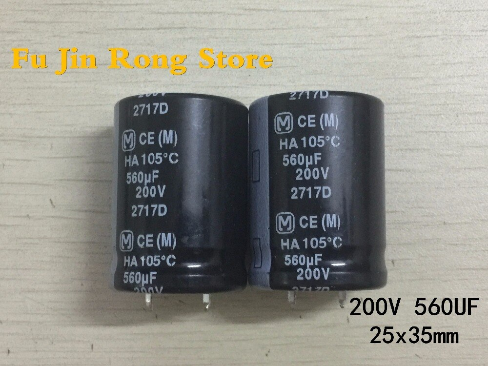 Original 5 unids/lote 200V 560UF 25*35MM 560UF 200V para LCD Placa de alimentación (condensador electrolítico de aluminio) ic.
