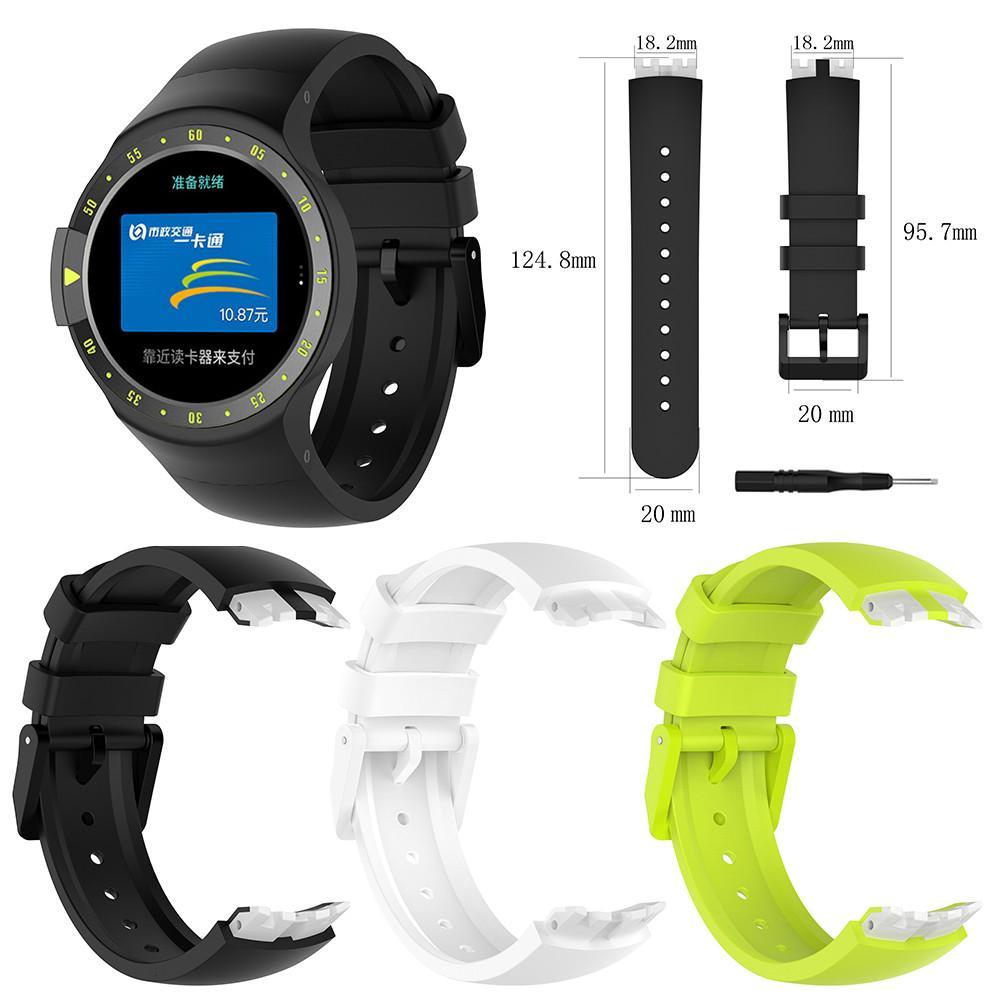 Hoge Kwaliteit Zacht Siliconen Vervanging Horloge Band Polsband voor Ticwatch S Smart Horloge voor Ticwatch S Bands Bandjes W /Tools