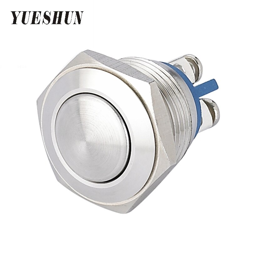 5pcs 16mm Push Button Switch Household Appliance Stainless Steel Momentary Switches Smart Home Accessories Round Heard Switch