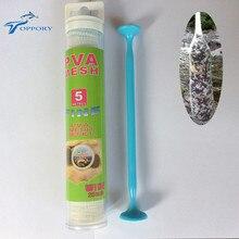 Topproy 5 متر PVA أنبوب شبكي أطقم 25 مللي متر 35 مللي متر المياه قابلة للحل dissovling PVA ل الكارب الصيد الطعم bolies تغذية مع عصا المكبس