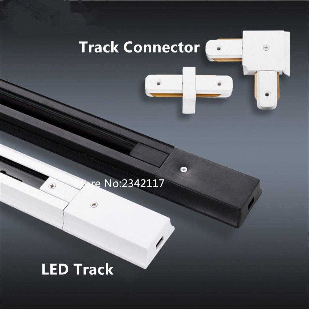20 MXDHL 1 متر led ضوء المسار السكك الحديدية موصل ، led ضوء المسار السكك الحديدية ، العالمي اثنين wrie القضبان ، الألومنيوم المسار ، led الضوء الأسود/الأ...