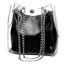 Shoulder Bag For Ladies Fashion Small Transparent Messenger Bag Bucket Bag Chain Bag Handbag Composite Mini Bag Sac À Main#20