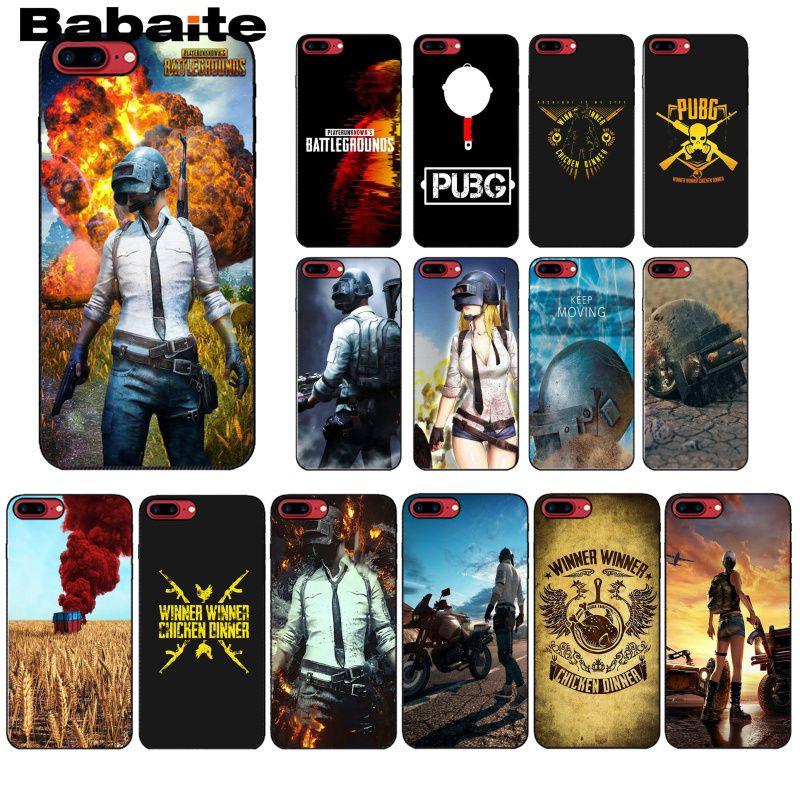 Babaite playerunknown battles battlegrounds pubg novidade fundas telefone capa para iphone 8 7 6 s plus 5 5S se xr x xs max coque escudo