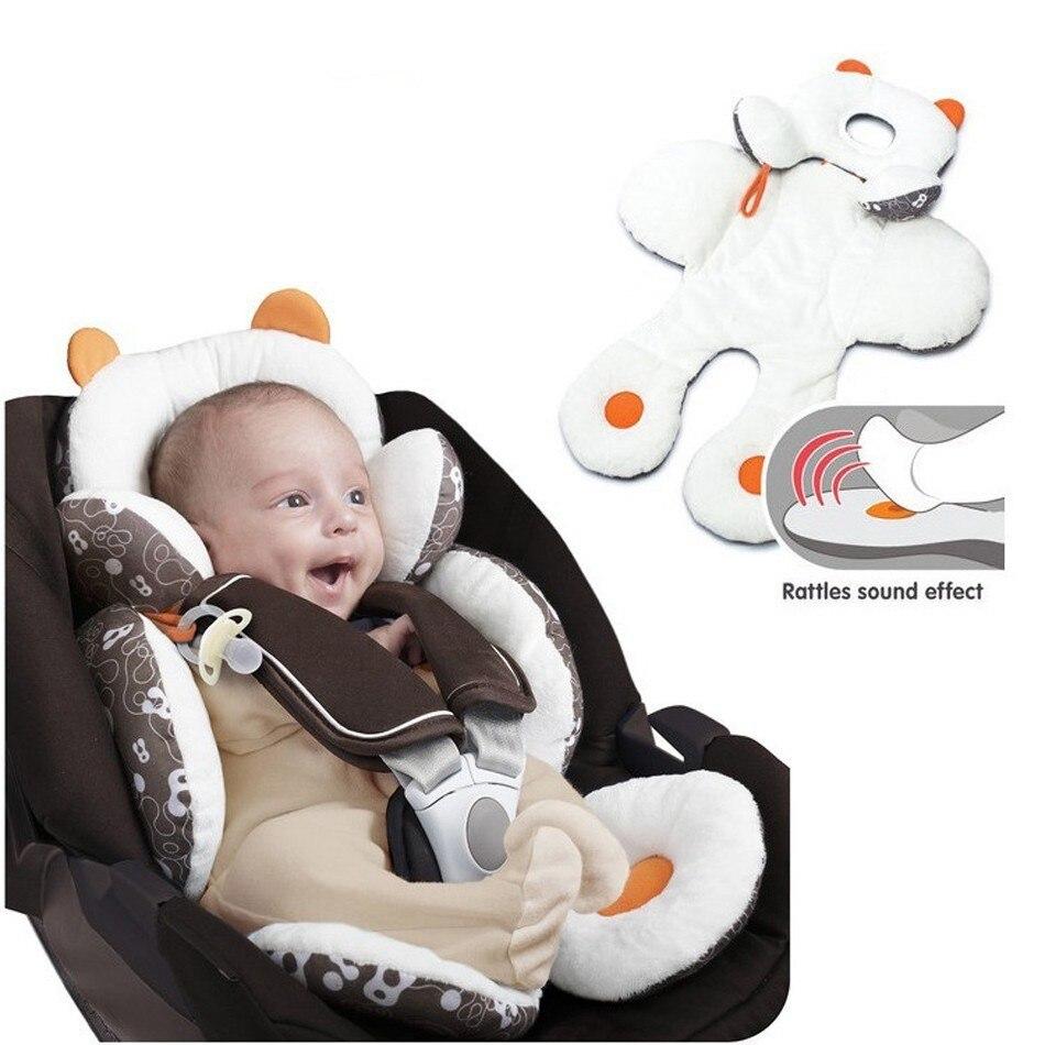 Soporte para la cabeza de bebés pequeños soporte corporal para asiento de coche corredores cochecitos almohadilla cojines sueño reparador almohada de coche