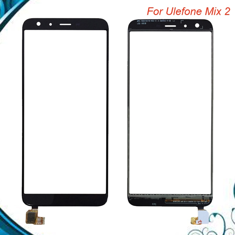 Para Ulefone Mix 2/Ulefone Mix2 Sensor de Panel táctil de pantalla táctil color negro Reparación de teléfono en Stock