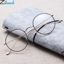 Gafas de lectura redondas Zilead, gafas de prebiopía de Metal para hombres y mujeres, gafas de hipermetropía, montura de gafas