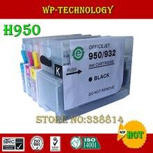 Combinaison de cartouche dencre entièrement rechargeable pour hp 950 hp 951, hp-950 hp-951, combinaison pour imprimante hp 8600, etc, avec puces ARC