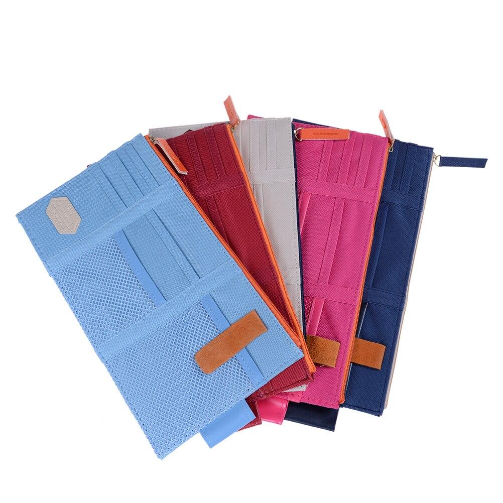 1 Uds 5 colores CD titular de la tarjeta de organizador de bolso bolsillo parasol para coche punto bolsillo tarjeta de almacenamiento