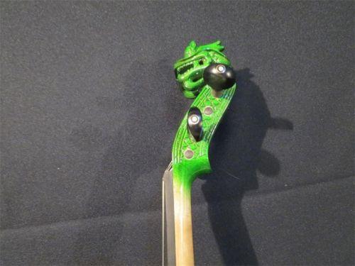 Carved dragon scroll 4/4 electric violin,solid wood, New streamline model 8688 enlarge