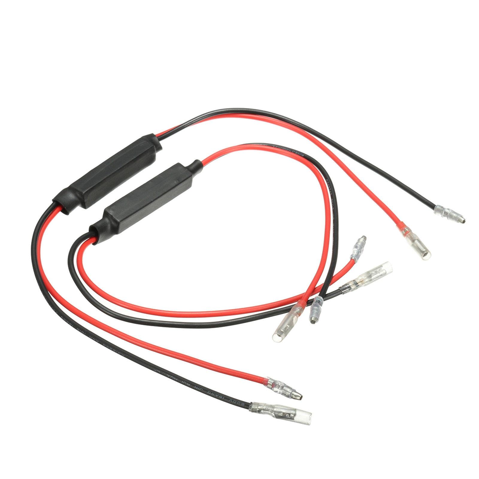 2X10 W indicador de señal de giro de bicicleta de motocicleta decodificador de resistencia de carga LED señal de giro LED para motocicleta indicador