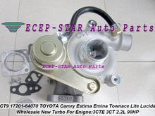 Turbocompresseur CT9 17201-64070 17201 64070 1720164070   Livraison gratuite, pour TOYOTA Camry Estima Lite TownAce Vista 3CT 3C-T 3C 2.2L