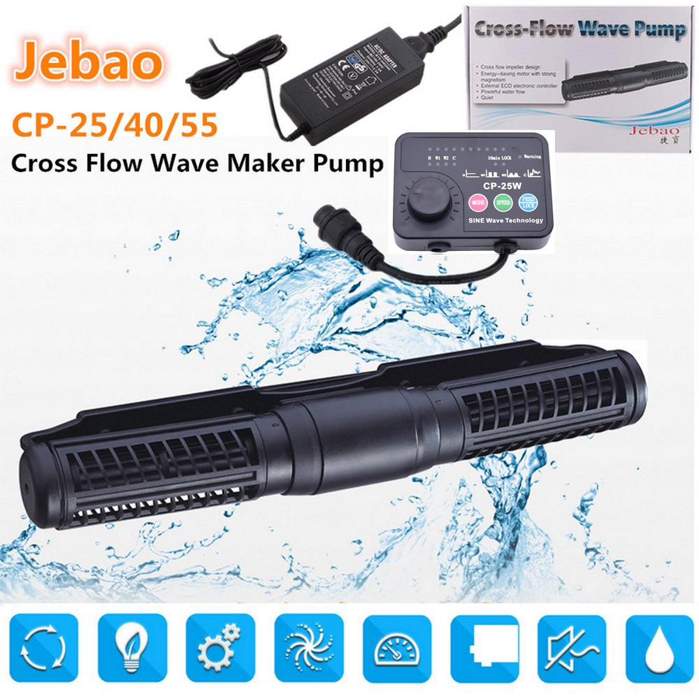 110-240V Aquarium Pump Cross Flow Wave Pump 5 Flow Model CP-55 for Fish Tank Wireless Master Slave Pump Control Wave Keep Active