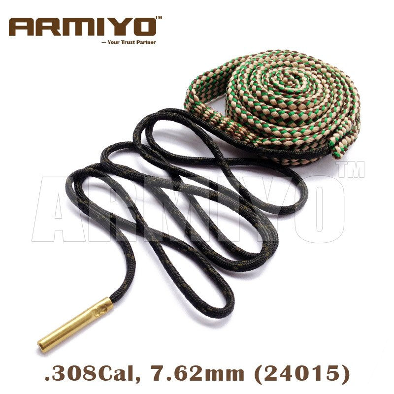 Armiyo 7.62mm .30Cal .308 .30-06 Cal Gun Brush Bore Rope Barrel Cleaning Sling AK Cleaner Tactical Hunting Accessories 24015