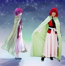 Anime chaud Yona de laube Akatsuki no Yona Cosplay ensemble complet robe avec Costume + Cape cadeau boucles doreilles