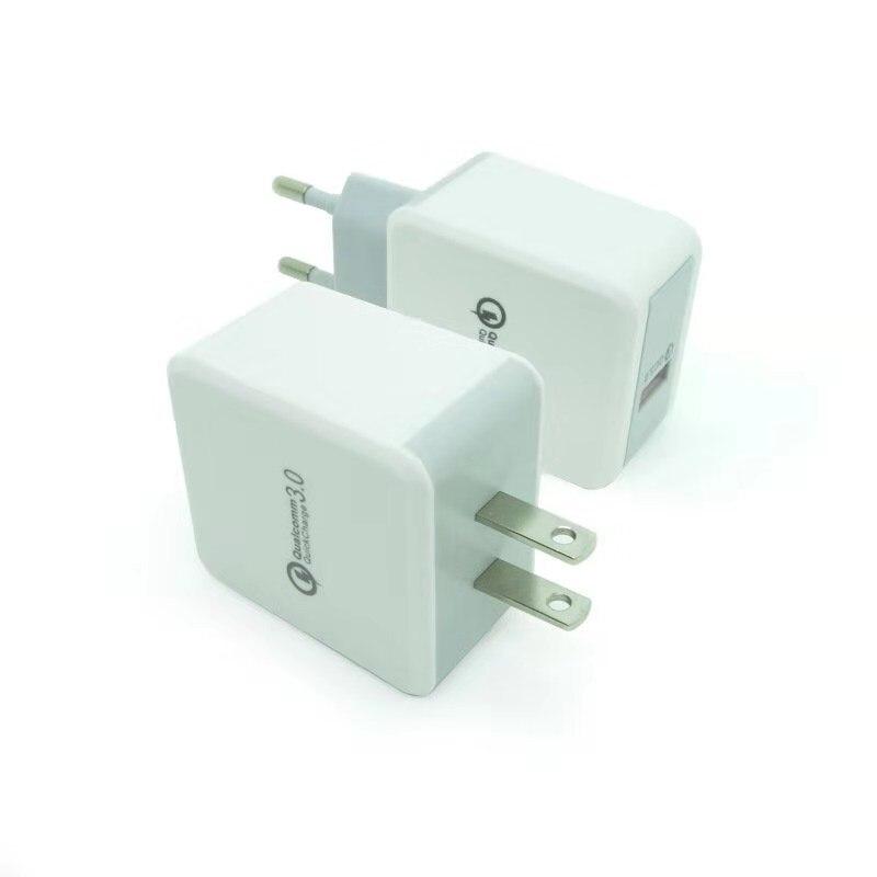 شاحن USB عالمي QC3.0 ، 200 قطعة ، شحن سريع ، قابس الاتحاد الأوروبي ، الولايات المتحدة ، المملكة المتحدة ، متوافق مع iPhone XS ، Samsung ، Huawei
