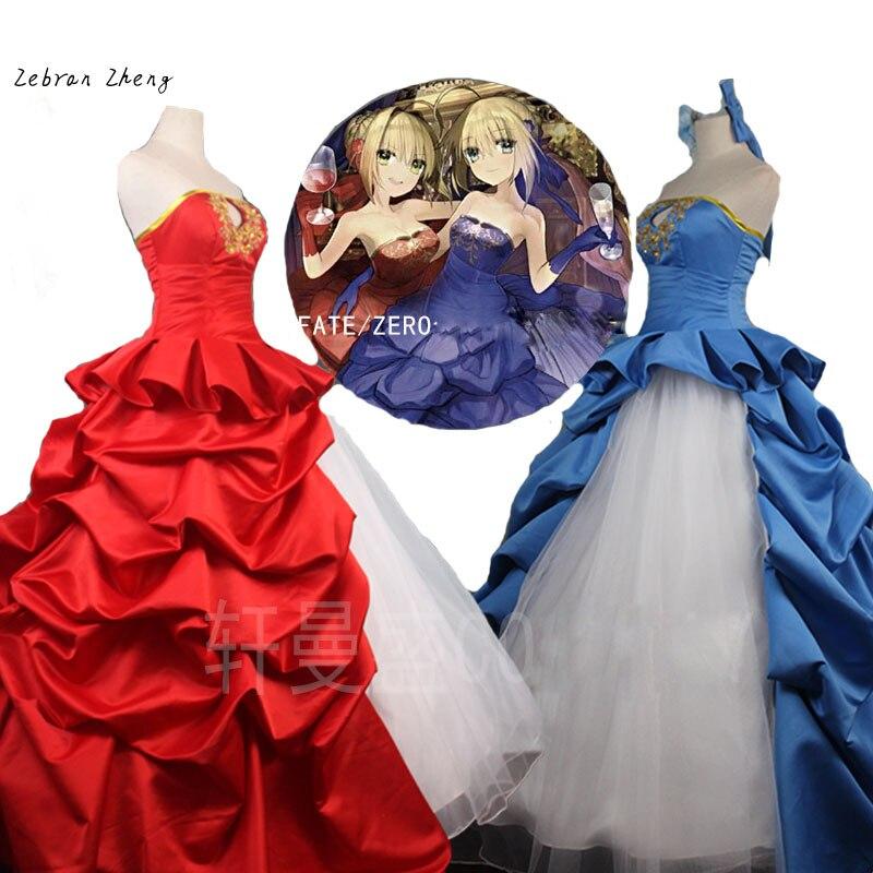 Fate Zero TYPE-MOON, костюм для косплея Nero на 10 лет, платье для косплея Red Saber, платье класса де-люкс для Хэллоуина