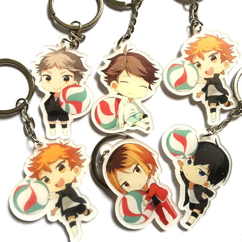 1 Uds Anime Haikyu Nekoma de voleibol escolar Kozume Kenma Kiyoko colgante llavero llaveros Portachiavi kulcstarto