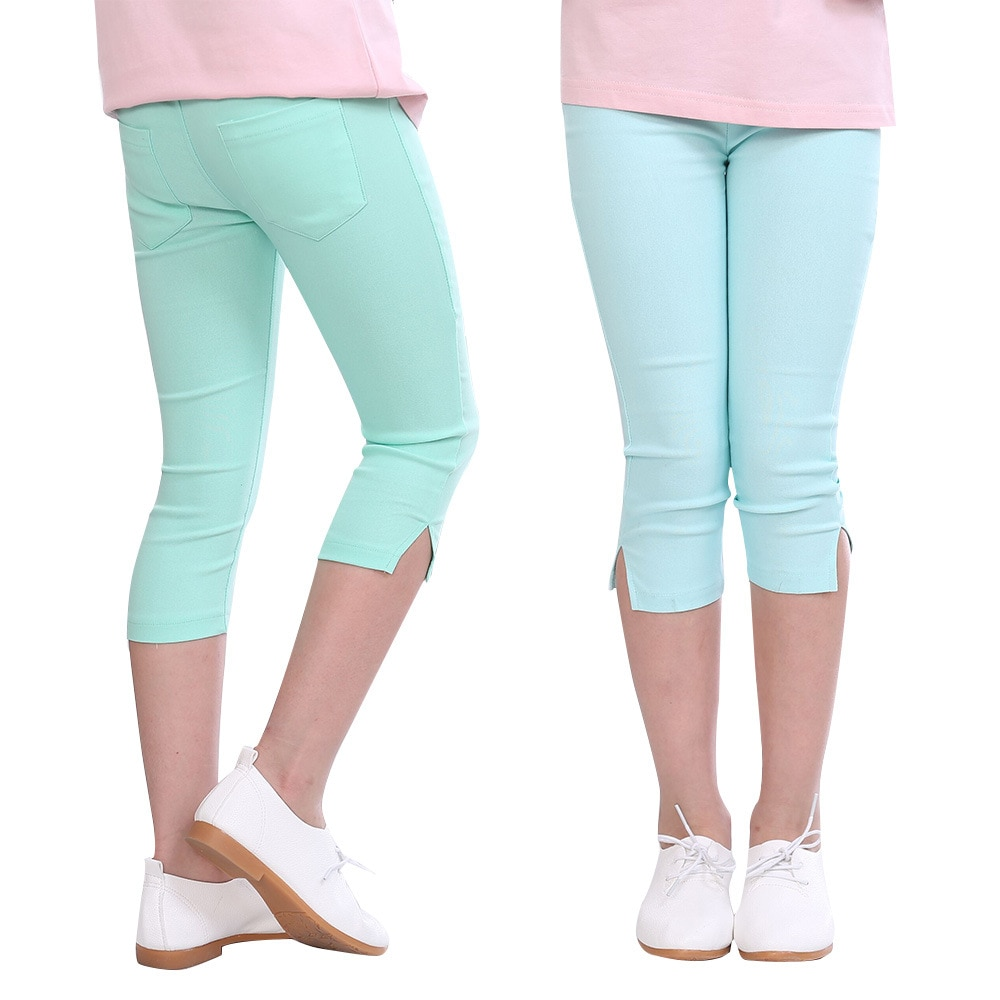 Pantalones de verano para niñas, mallas elásticas de Cinco Pantalones, color caramelo,...