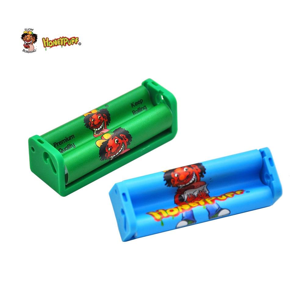 Купить с кэшбэком HONEYPUFF Plastic Tobacco Rolling Machine For 70mm Rolling Paper Hand Cigarette Maker  Rolling Cigarette Smoke Machine