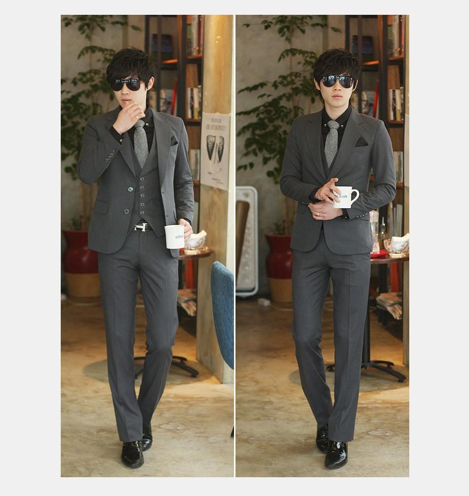 (Kurtka + Spodnie + Tie) luksusowe Mężczyzn Garnitur Mężczyzna Blazers Slim Fit Garnitury Ślubne Dla Mężczyzn Kostium Biznes Formalne Party Niebieski Klasycznej Czerni 22
