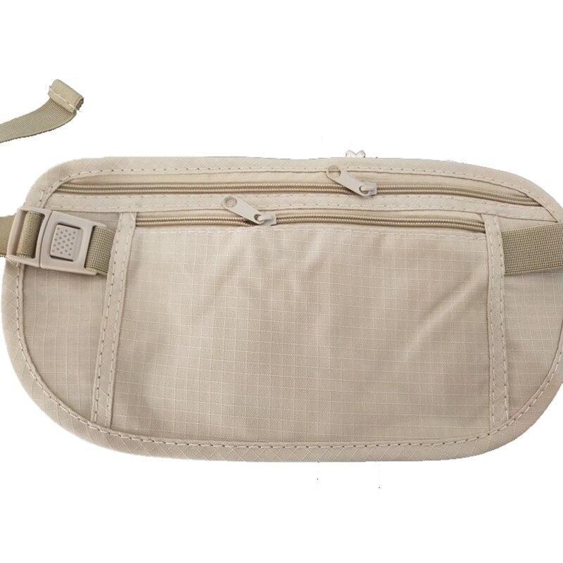 Resistant Nylon plus Travel Pouch Marsupio in vita Hidden Passport Money Waist Belt Bag Slim Secret Security Hidden Wallet