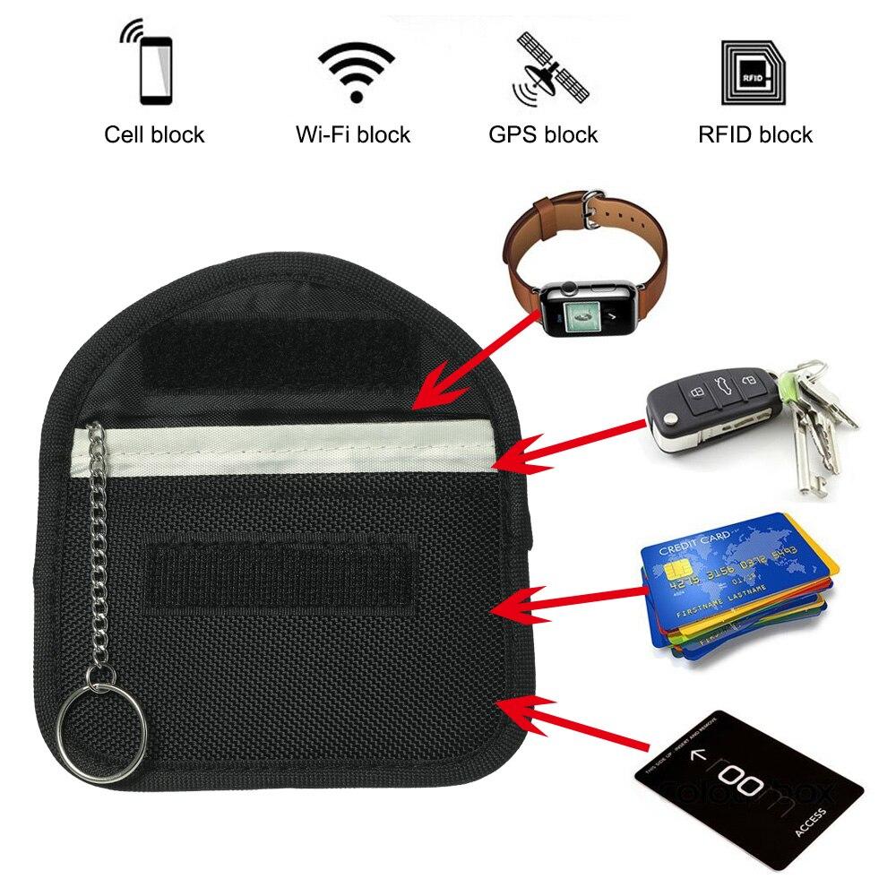 LLavero de bloqueo RFID para coche, Bolsa de bloqueo de señal, bolsa de seguridad antihacking para coche, control remoto inteligente sin llave