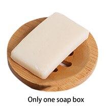 Plateau à savon en bambou fendu   Plateau de rangement en forme ronde daccessoires de salle de bain, comptoir de ménage multifonction facile à nettoyer