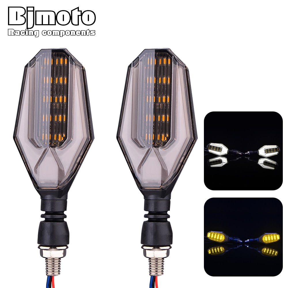 Impermeable motocicleta M10 10MM indicadores intermitente luces lámpara para Harley Yamaha kawasaki Suzuki Honda Chopper Bobber