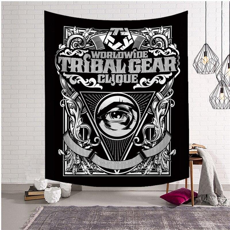 Decoración colgante de pared con diseño de calavera de Metal gótico, estilo japonés de la oscuridad, tapiz Tribal, decoración Hippie, esterilla de Yoga, envío directo a la playa