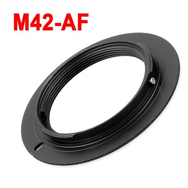 M42-AF de Metal M42 lente de rosca a AF adaptador de lente de montaje para Sony Minolta Alpha a200 a350 A390 A550 A580 A700 A900 cámara DSLR