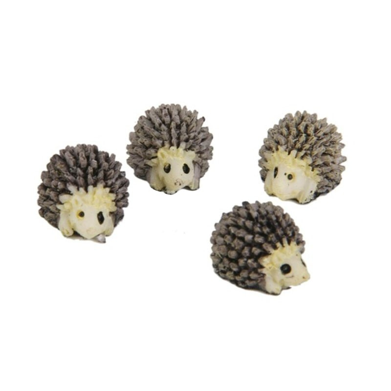 10 unids/pack decoración de escritorio Mini erizo para escritorio/Tabla/bonsái casa de muñecas en miniatura hadas jardín paisaje decorativo