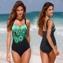 Maillot de bain femme 플러스 사이즈 수영복 공작 프린트 Monokini 수영복 스트랩 섹시한 여성 수영복 원피스 바디 수트