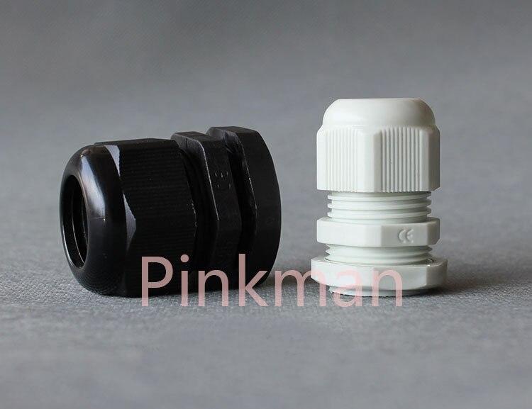 50 piezas sistema métrico negro M22 Nylon glándulas de Cable