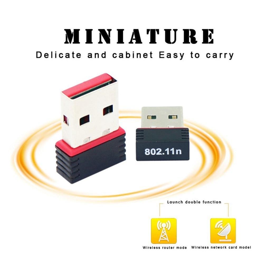 Adaptador inalámbrico YUNCLOUD Mini WiFi tarjeta de red USB 2,0 de alta velocidad 150Mbps 802,11 ngb para macbook XP PC Laptop WIFI USB #30