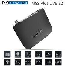 MECOOL M8S Plus DVB-S-S2 8 1GB RAM ROM Android 7.1 Caixa de TV Amlogic S905D Octa Core 100M 4K H.265 2.4G WiFi Set Top Box IPTV