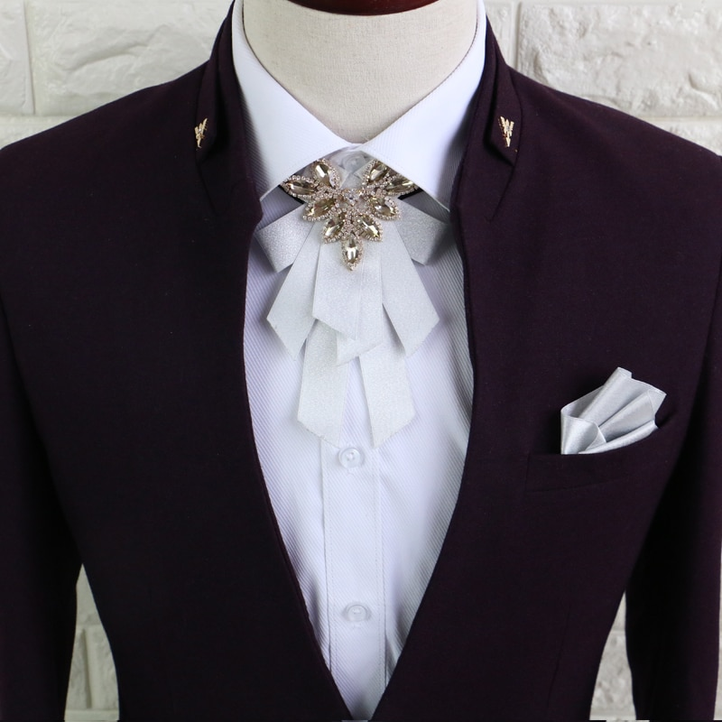 High quality diamond men and women neck tie Europe and the United States fashion suit shirt neck tie for bride and groom