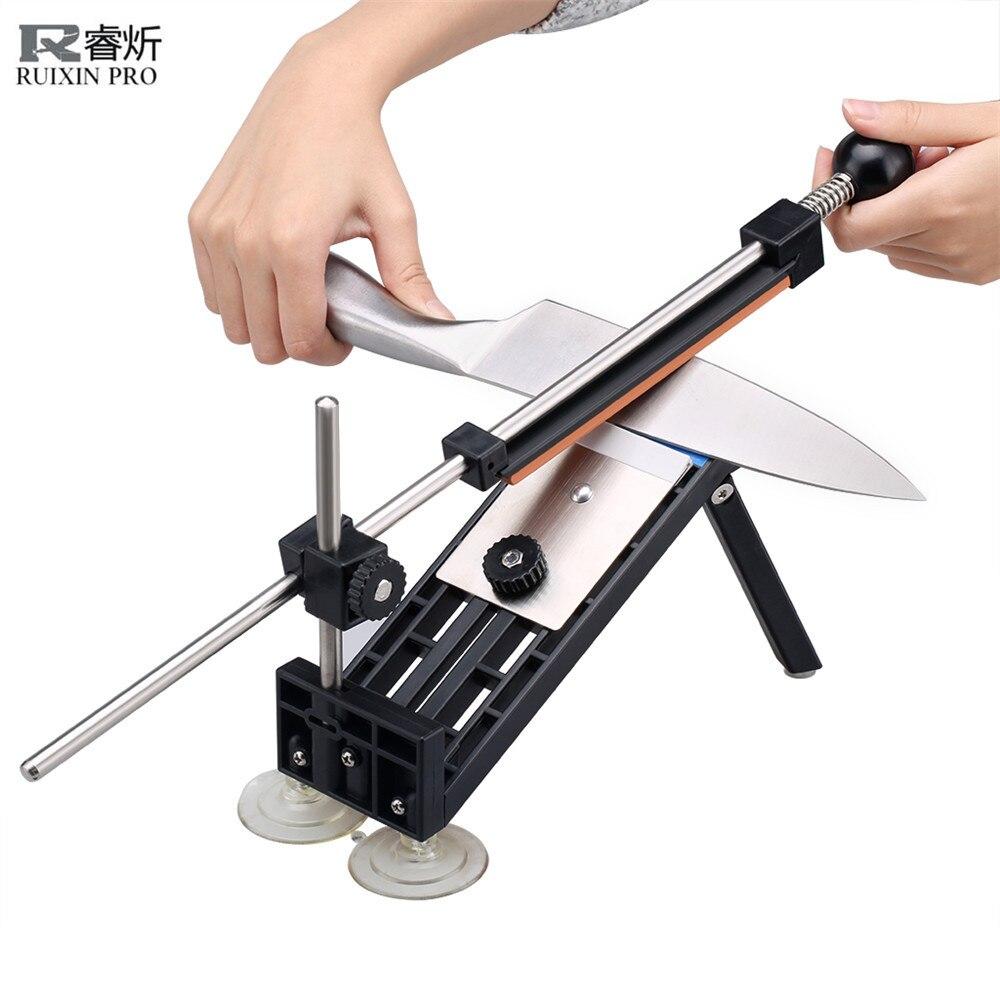 Ruixin Pro afilador de cuchillos actualizado sistema profesional de afilador de cuchillos de cocina 4 Uds Whetstones Apex Edge Pro con ventosas