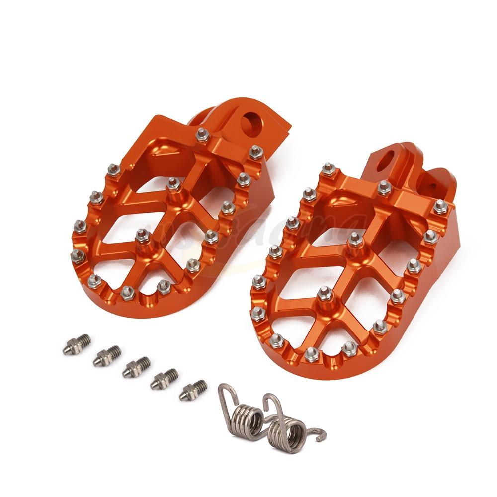 Motocicleta Billet MX estriberas anchas pedales de reposapiés de descanso para KTM SX SXF EXC EXCF XC XCF XCW XCFW SMC 65 85, 125, 150, 200, 250 -530