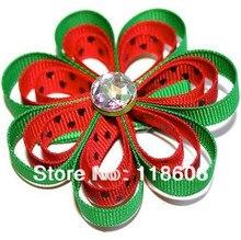 60pcs Free shipping  Hair Bow Ribbon Sculpture  Red Watermelon Ribbon Character Sculpture