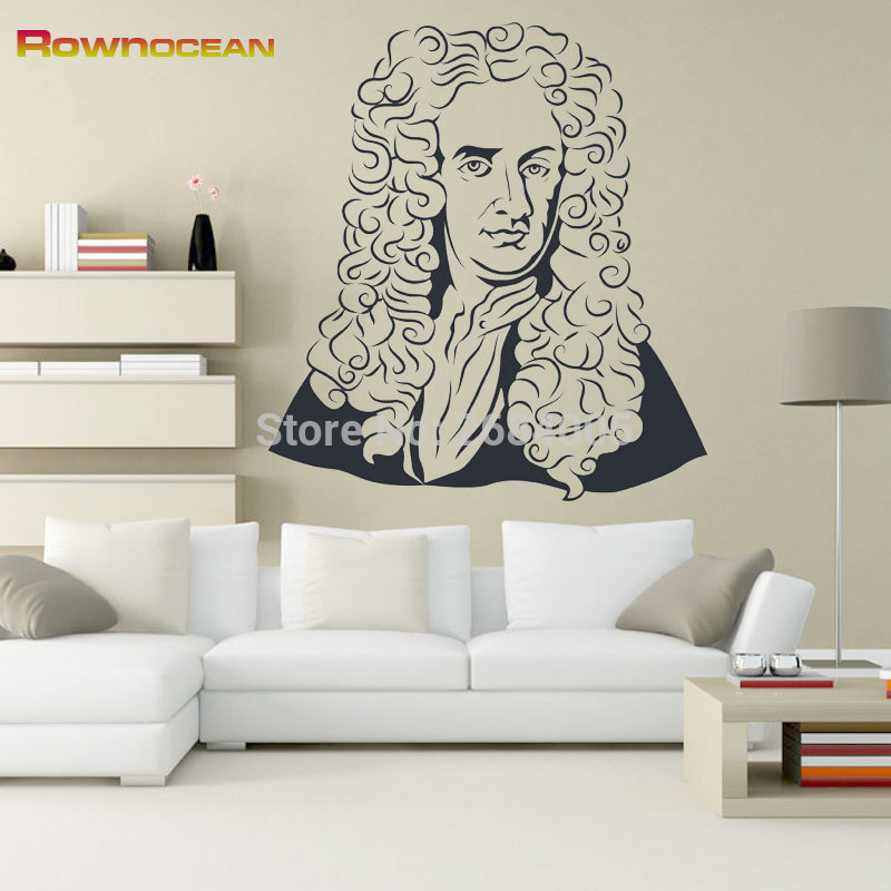 Newton-pegatinas de pared decorativas para sala de estar, Muraux, d-05, Retrato, Vinilos...