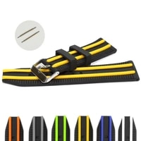 18pcs pack 24mm two tone silicone padded unisex watch band straps wb1049abcd black with yellow grey green white blue