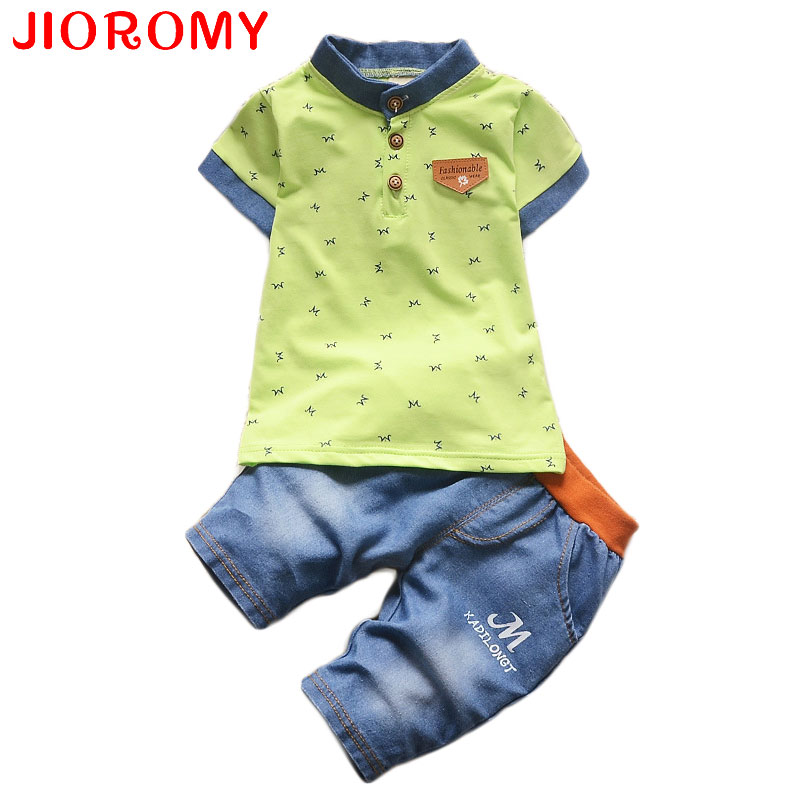 JIOROMY Children Boys Clothing Sets Baby Boys Top + Shorts Summer Set Toddler Kids Tracksuit Clothes Sport Suit Set k1