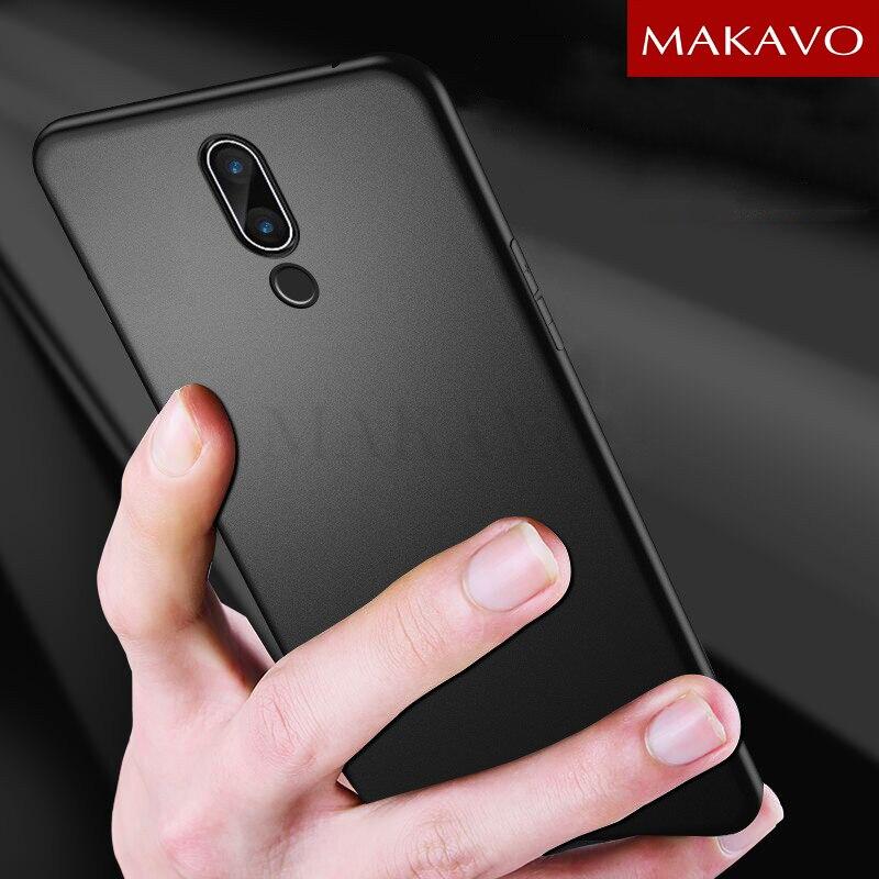 Funda MAKAVO para Meizu 15, funda de protección completa de silicona suave mate para teléfono Meizu 15 Plus Lite Meizu15 Plus