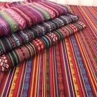 sofa table cloth tissue ethnic jacquard fabric bag cushion curtain dirty proof fabric african organic poly cotton linen fabric