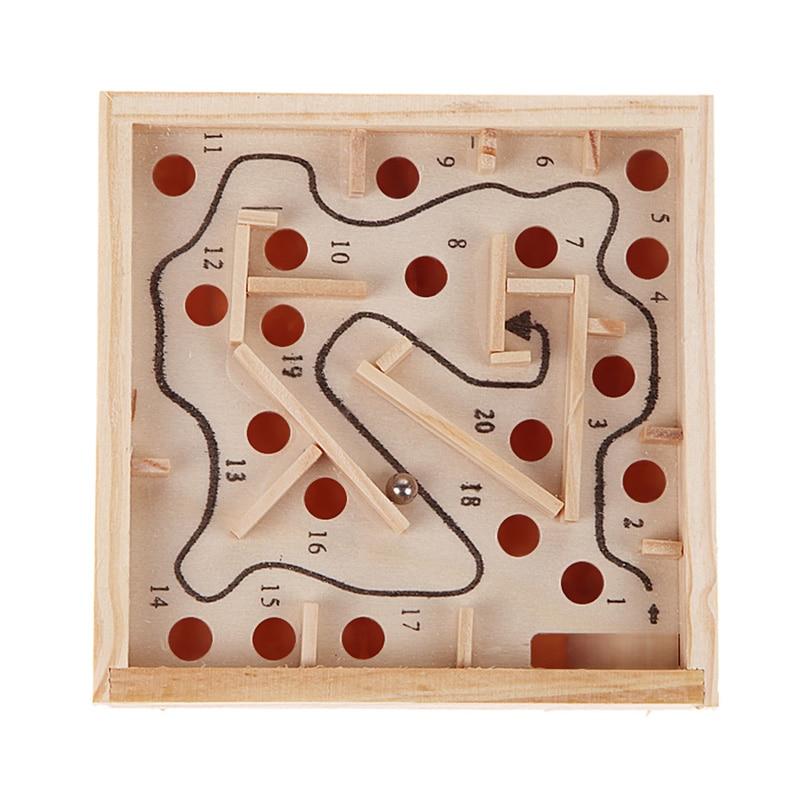 Kinder 3D Puzzle Holz Labyrinth Bord Spielzeug Ball Labyrinth Spiele Handarbeit Spielzeug Kind Intellektuelle Entwicklung Pädagogisches Puzzles