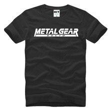 Jeu MGS métal Gear solide lettre imprimé hommes T Shirt T-shirt 2016 nouveau T-shirt à manches courtes en coton T-shirt Camisetas Masculina
