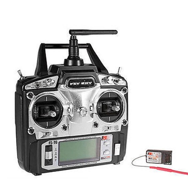 Радиоуправление Flysky FS-T6 2,4G 6-канальный передатчик + приемник для радиоуправляемого вертолета
