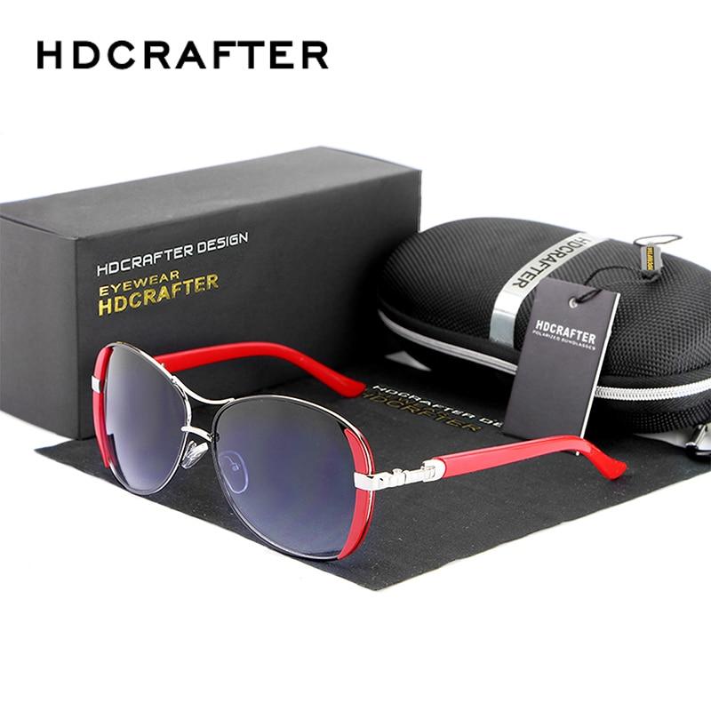 HDCRAFTER 2017 gafas de sol calientes para las mujeres marca de diseñador Vintage conducir gafas de sol rojas para las mujeres oculos de sol femenino