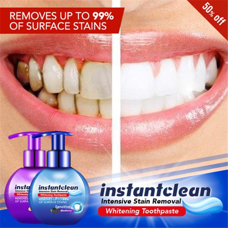Мгновенная очистка, интенсивное удаление пятен, отбеливающая зубная паста Viaty, пищевая сода, ароматизатор черники, зубная паста для предотвращения распада зубов